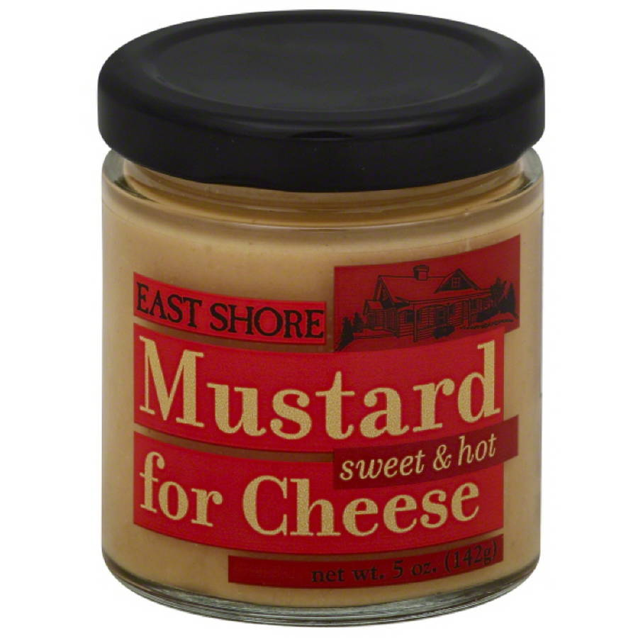 East Shore Sweet & Hot Mustard for Cheese, 5 oz, (Pack of 12)