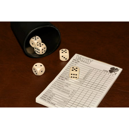 LAMINATED POSTER Luck Play Cube Notepad Community Game Craps Poster Print 24 x 36