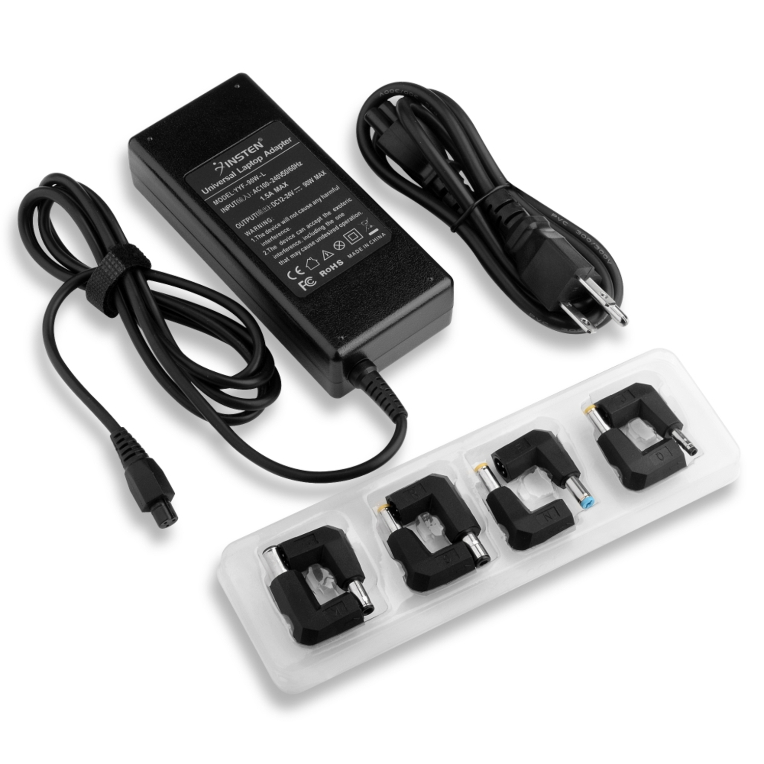 Insten Universal Laptop AC Wall Power Adapter Charger Set, 8 Connectors