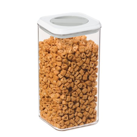 Oggi Twist and Store Square Airtight Acrylic Canister, 95-Ounce