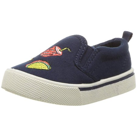 Oshkosh B'gosh Baby Boy Foodie-B Canvas Slip On Sneakers ()