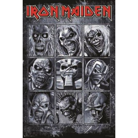 Iron Maiden Collage Poster 24in x