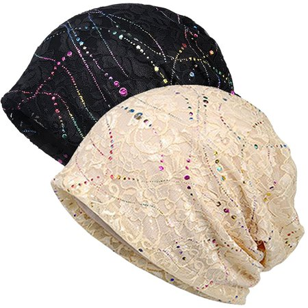 MJEWELRYGIFT - Womens Cotton Beanie Lace Turban Soft Sleep Cap Chemo ... bda2f6fa51f
