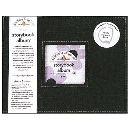 Doodlebug Album Storybook 8x8 Beetle Black 8x8 Scrapbook Photo Album