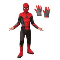 Spiderman Kids Costume Kit - Red & Black - Size Large
