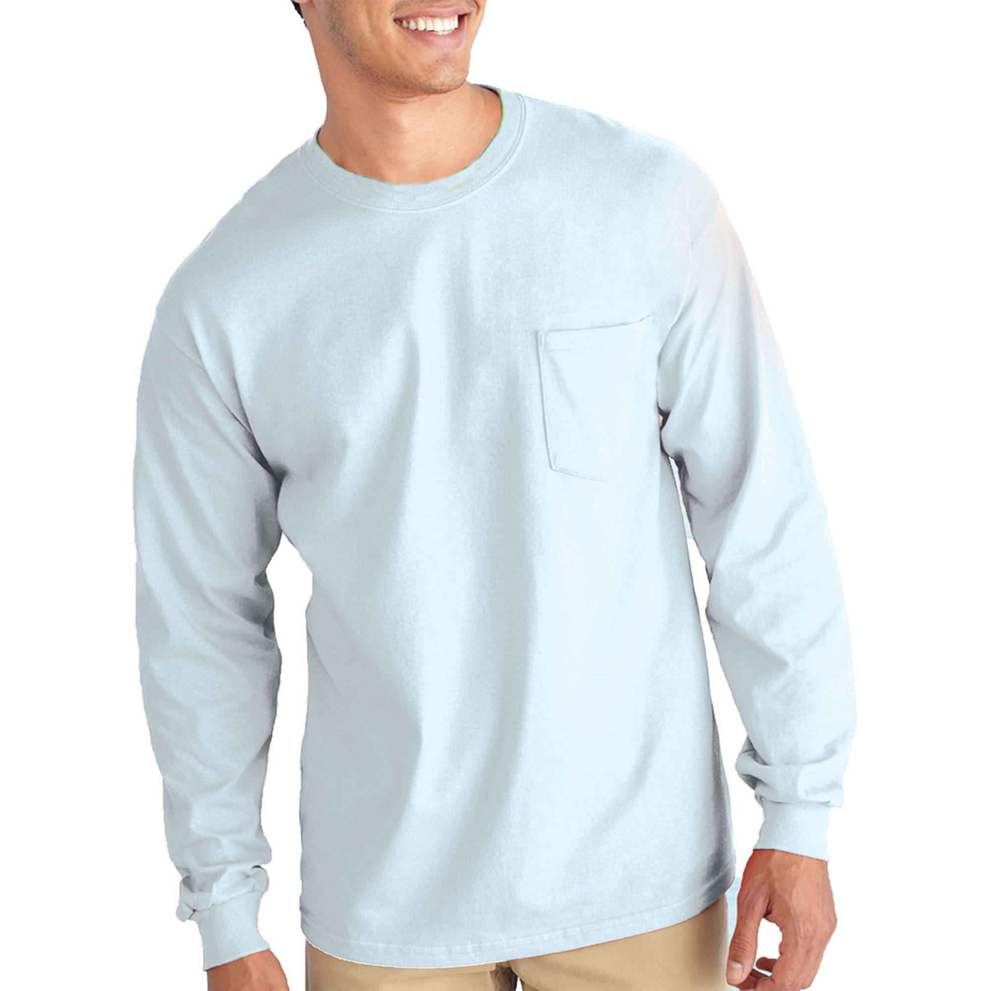 Gildan Mens Classic Long Sleeve Pocket T-Shirt - Walmart.com