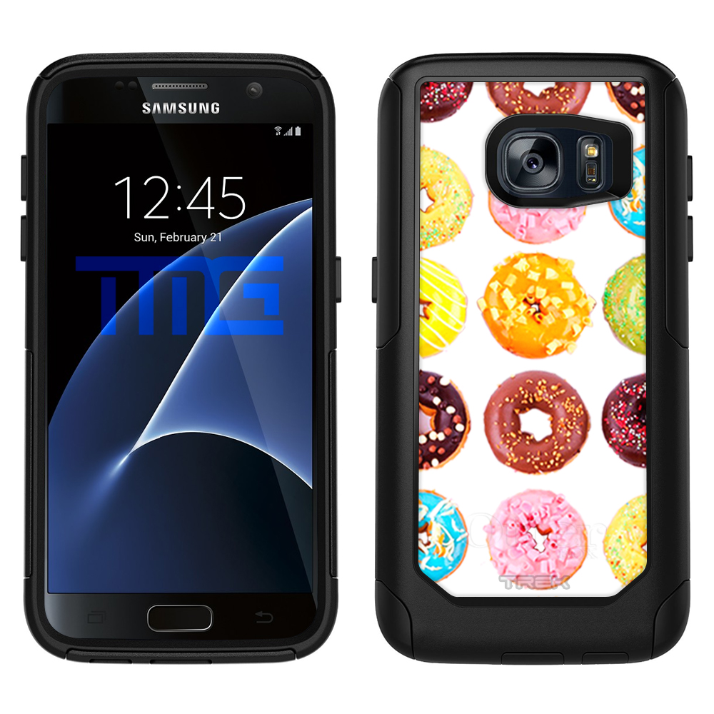 SKIN DECAL FOR OtterBox Commuter Samsung Galaxy S7 Case - Mixed Donut Pattern DECAL, NOT A CASE