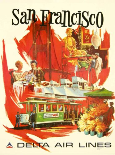Antiquitäten Kunst San Francisco California Iii Vintage United States Travel Advertisement Poster Cotrans Re