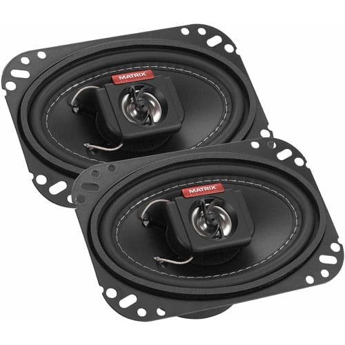 "Matrix Mobilesound 4"" x 6"" 2-Way Speakers, 250W"