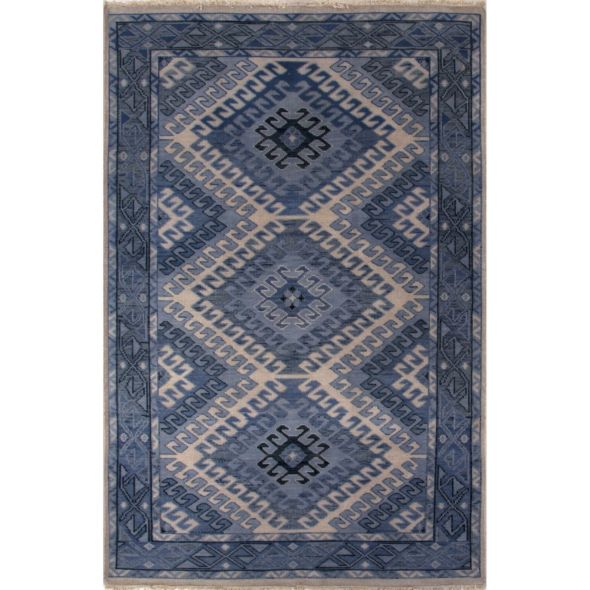 Jaipur Living Hand Knotted Oriental Pattern Dusty Blue