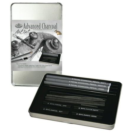 Drawing With Charcoal (Royal Brush Charcoal Drawing Small Tin Art Set )