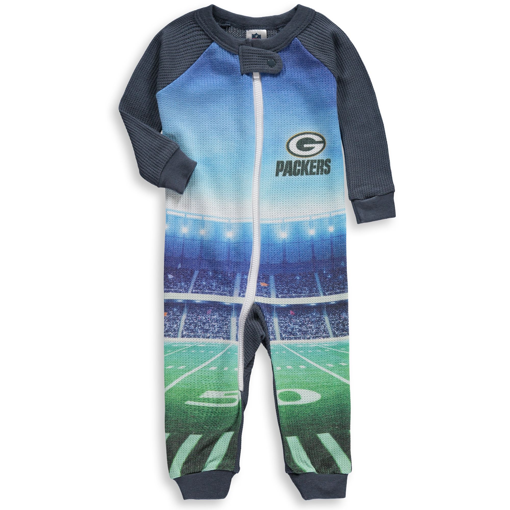 Green Bay Packers Gerber Infant Union Suit Jumper - Gray