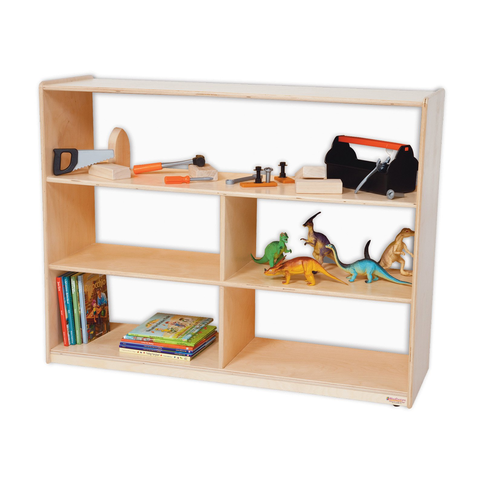 Wood Designs Versatile Shelf Storage with Acrylic Back - 36H in.