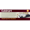 Cuisinart Multiclad Pro Tri-Ply Stainless Steel 5.5 Qt. Sauté Pan W/Helper & Cover
