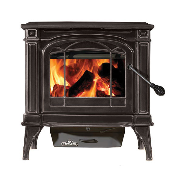Click here to buy 1100CP-1 Napoleon Cast-Iron Wood Burning Stove by Napoleon.