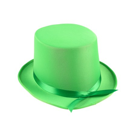 Adults Tap Dancer Magician Green Fabric Top Hat Costume Accessory - Ballroom Dancer Costume