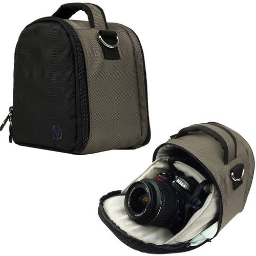 VANGODDY Laurel Travel Camera Protector Case Shoulder Bag fits Digital SLR Cameras [Canon, Nikon, Samsung, Sony, Olympus, etc.] up to 5.5in x 3.5in