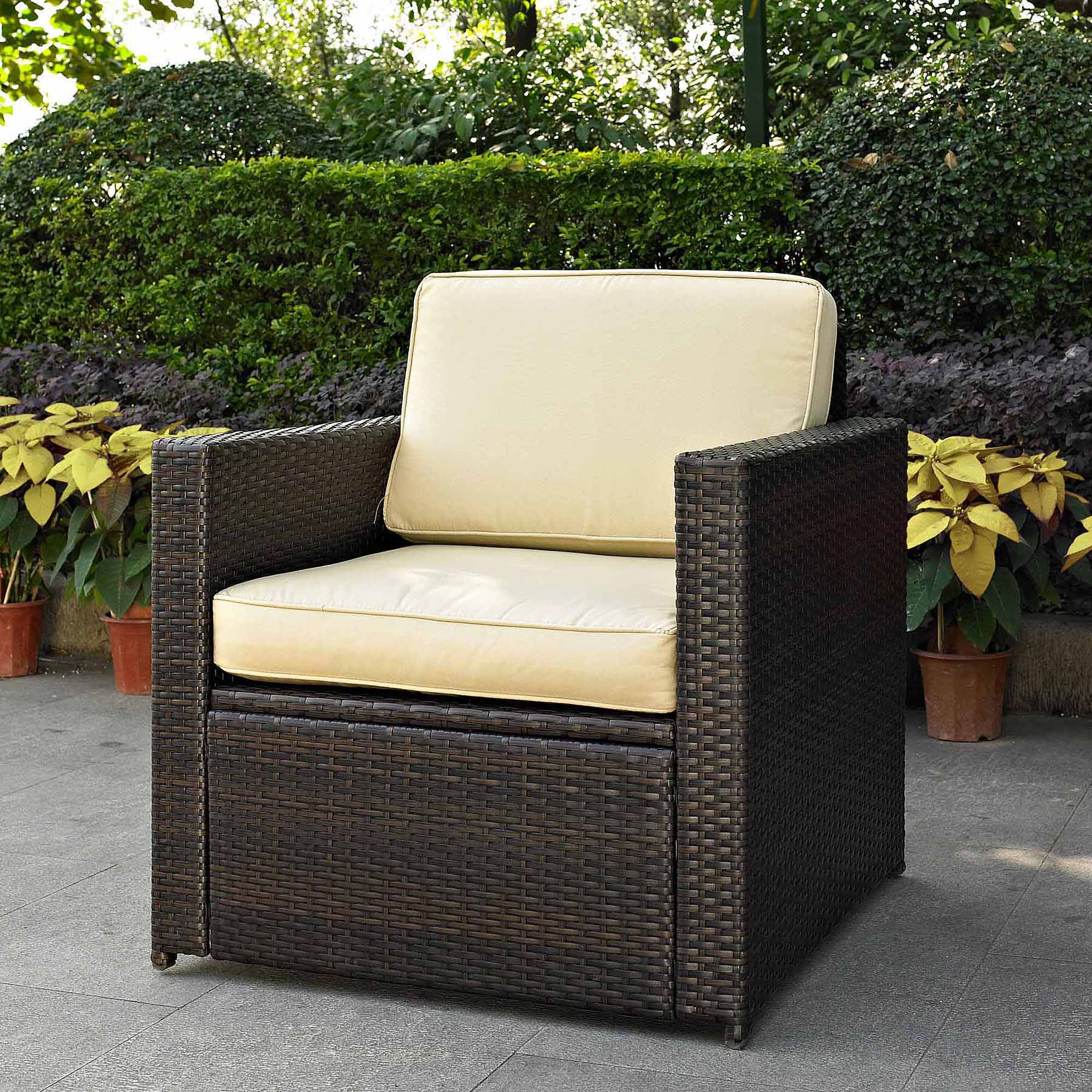 Crosley Furniture Kiawah Outdoor Wicker Arm Chair, Sangria Cushions    Walmart.com Part 86