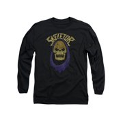 Masters Of The Universe Animated TV Series Hooded Skeletor Adult LSleeve T-Shirt