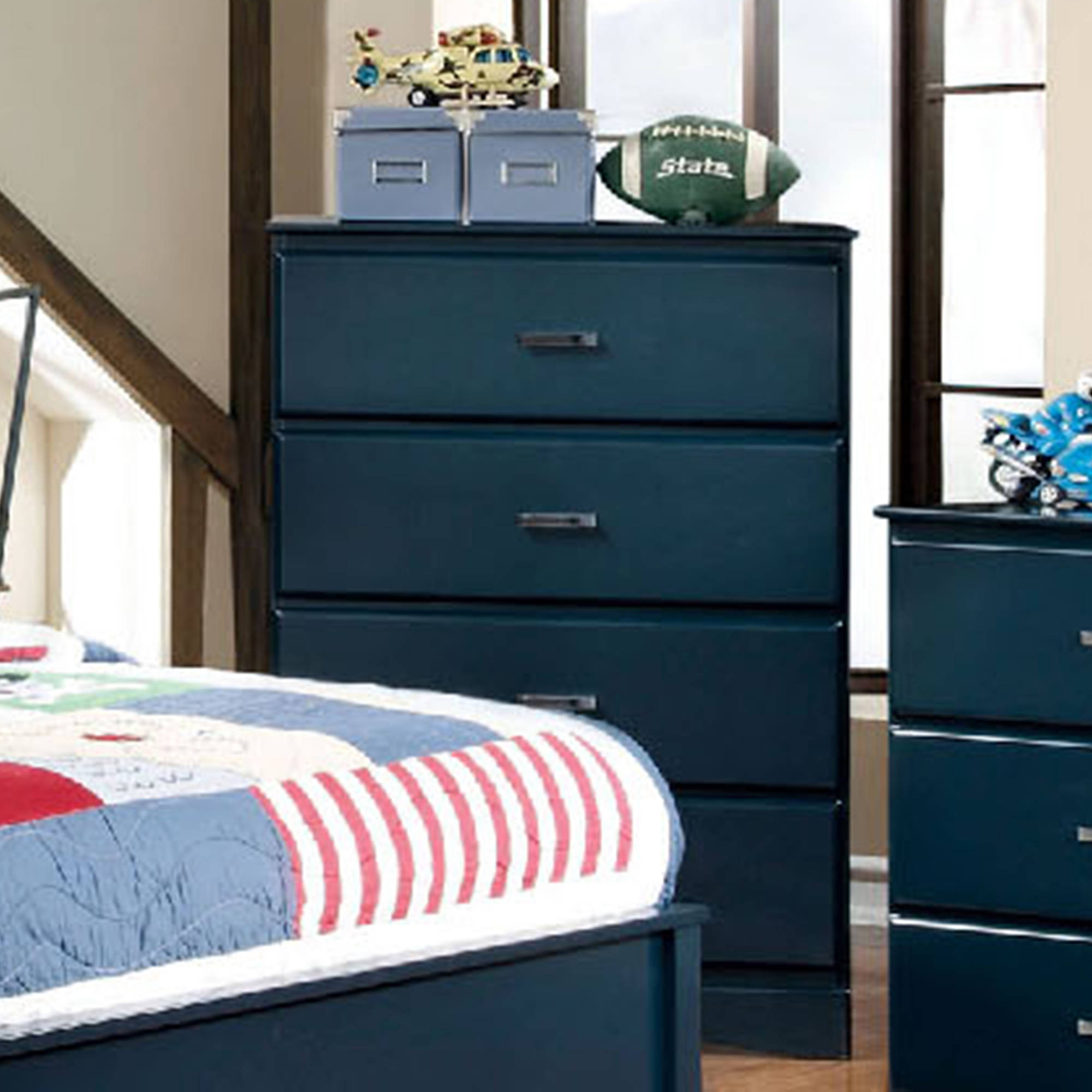 Prismo Chest of Drawers Finished in Blue