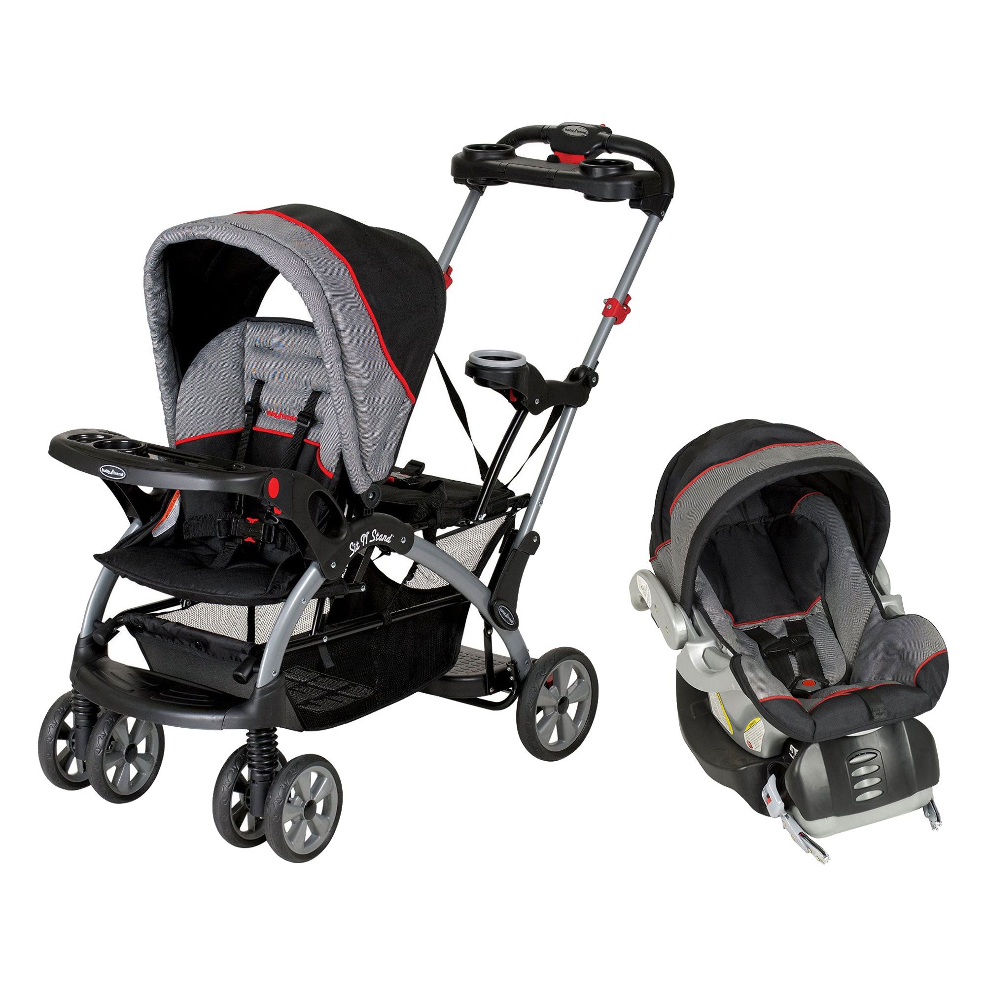 Baby Trend Sit N' Stand Platform Canopy Ultra Stroller Travel System w  Car Seat by Baby Trend