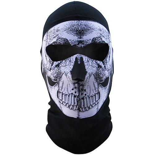 Zan Headgear Balaclava Extreme COOLMAX Full Mask B&W Skull by Zan Headgear