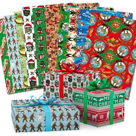 super awesome christmas wrapping paper book gift wrap happy holiday funny - Walmart Christmas Wrapping Paper