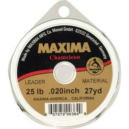 Maxima Chameleon Leader 25lb, 27 yard, .020 inch leader material