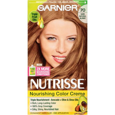 Garnier Nutrisse Nourishing Color Creme, 70 Dark Natural ...