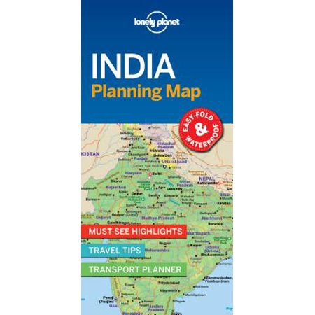 Travel guide: lonely planet india planning map - folded map: 9781787014572