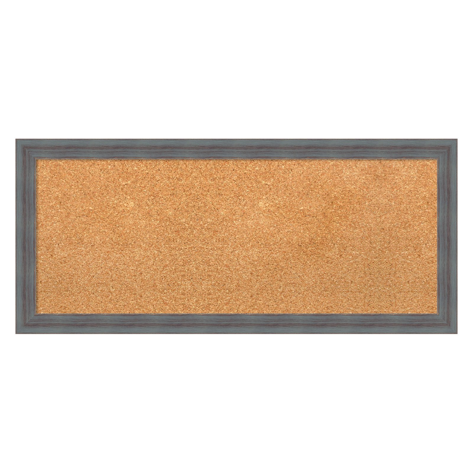 Amanti Art Dixie Grey Rustic Framed Cork Board