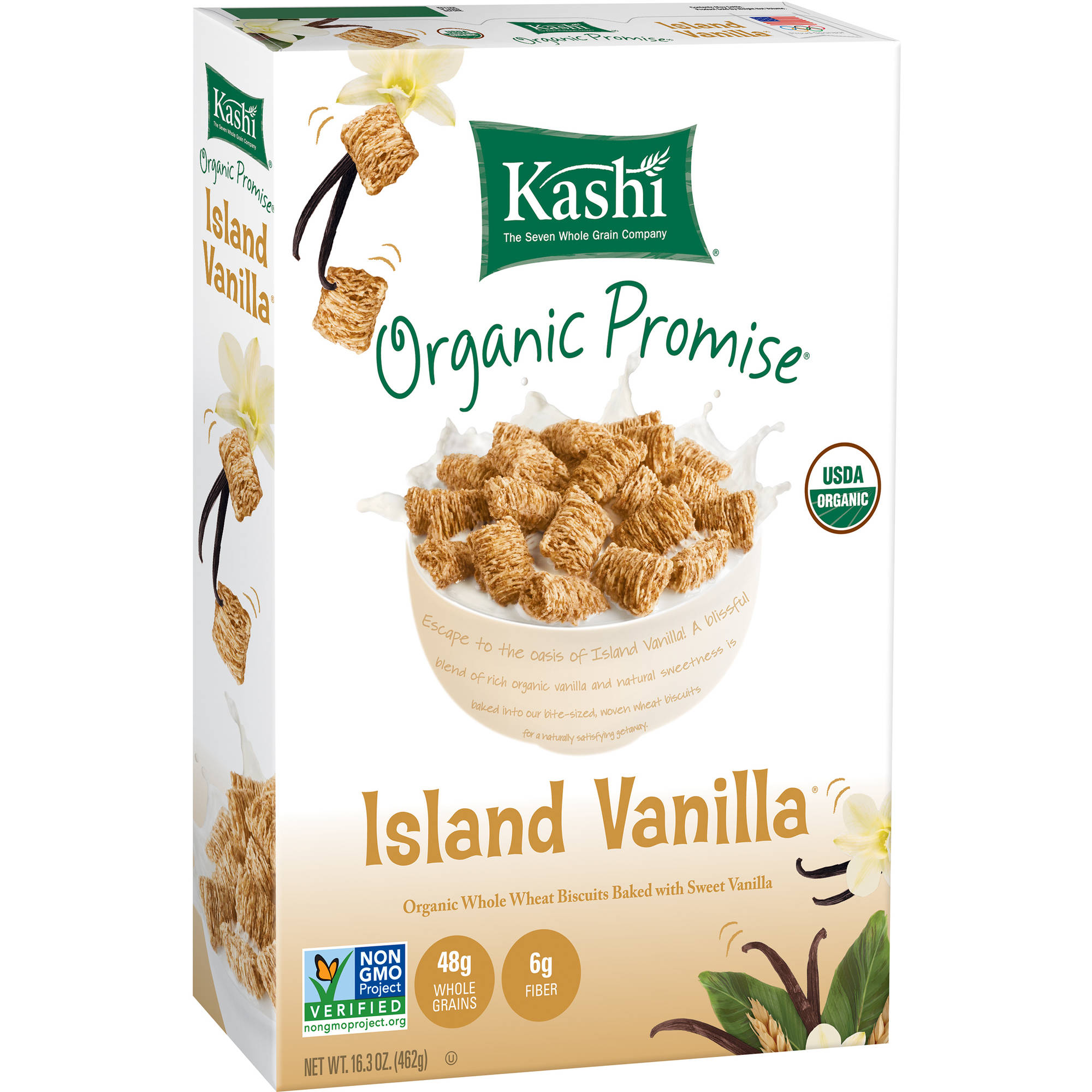 Kashi Island Vanilla Whole Wheat Biscuits Cereal, 16.3 oz