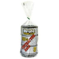 Brute Super Tuff Contractor Bags, 55 Gallon, 20 Bags (Twist Tie)