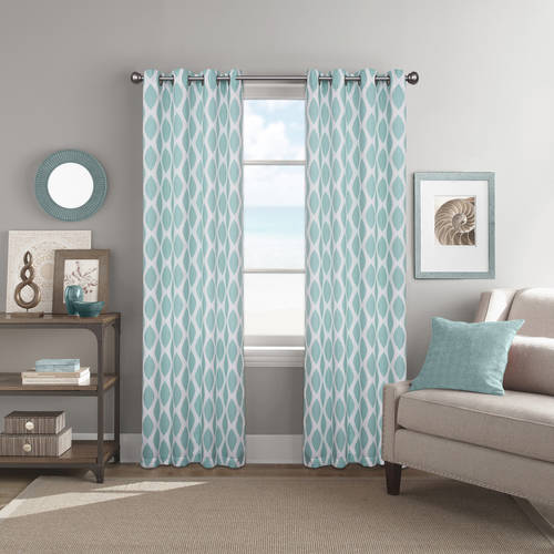 Better Homes and Gardens Ikat Diamonds Printed Window Curtain with Grommets