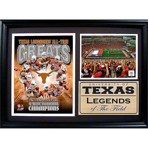 NCAA Texas Greats Photo Stat Frame, 12x18