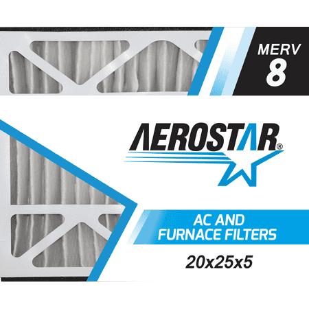 20x25x5 Trion Air Bear Replacement Furnace Air Filters by Aerostar - Merv 8, Box of 2 ()