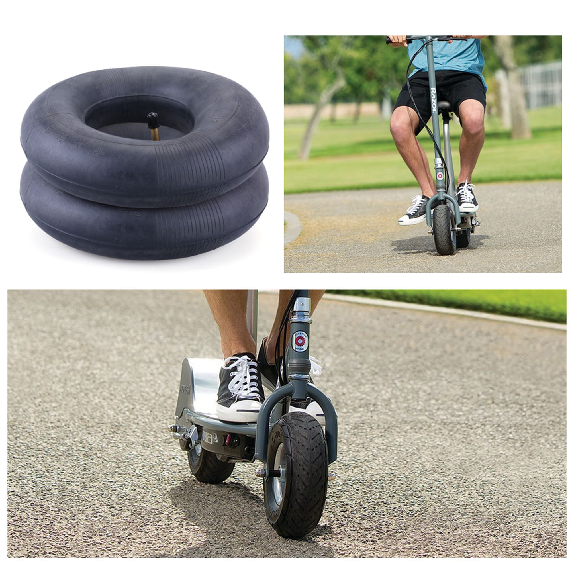 Lawn Mowers Utility Cart LotFancy 2 Packs of 2.80//2.50-4 Inner Tube for Hand Trucks Replacement 2.80-4 2.50-4 Tire Inner Tube with TR87 Bent Valve Stem Dollys Wheelbarrows Scooters