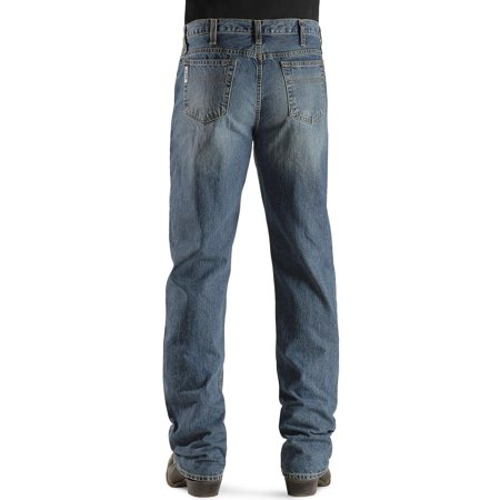 Cinch Apparel Mens  White Label Mid Rise Light Stonewash Sandblasted Jeans