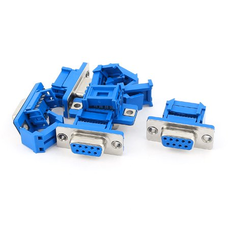 Male Crimp D-sub Connector - Unique Bargains 5pcs D-SUB DB9 9 Pin Female IDC Crimp Adapter Connector for Ribbon Cable
