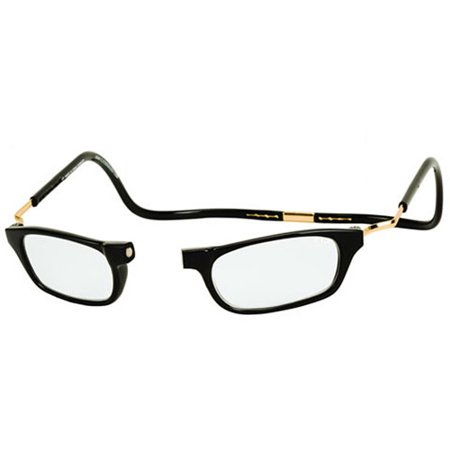 CliC Expandable Reading Glasses, Black