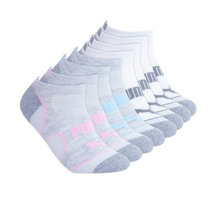 Puma Ladies 8-pair No Show Socks (White)