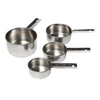 Tablecraft (724) Set of 4 Stainless Steel Measuring Cups [Set of 4]