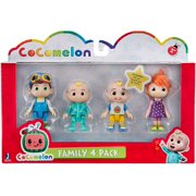 Cocomelon Friends & Family, 4 Figure Pack - 3 Inch Character Toys - Features Two Baby JJ Figures (Tee and Onesie), Tomtom, and YoYo
