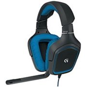 Refurbished Logitech 981-000536 G430 Over-the-Ear Surround Sound Gaming Headset - Wired - Black, Blue