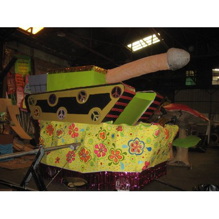 LAMINATED POSTER New Orleans: Floats for Krewe du Vieux parade being prepared in the Krewe den Poster Print 24 x - Parade Float Decorations Cheap