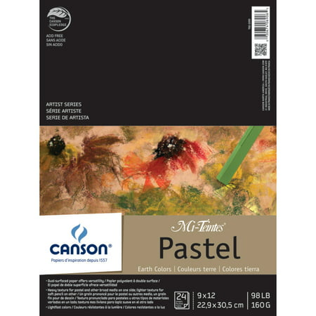 - Canson Mi-Teintes Paper Pad, 9in x 12in, Earthtones, 24 Sheets/Pad