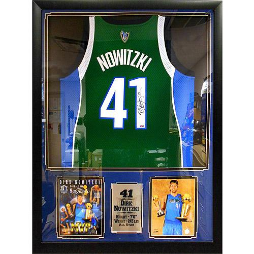 NBA 36x44 Autographed Jersey Frame, Dirk Nowitzki Dallas Mavericks