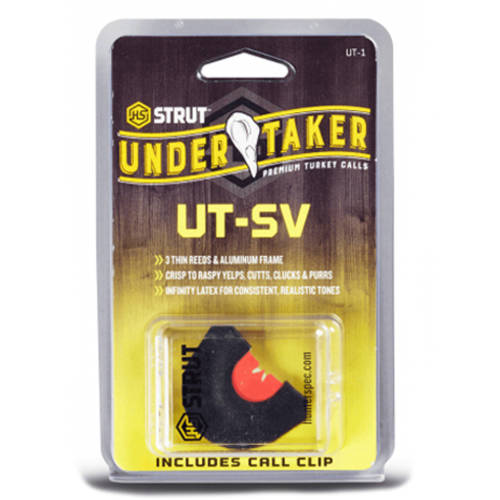 Undertaker Aluminum Frame Diaphragm Turkey Call, H.S. Strut, Multiple Types Available