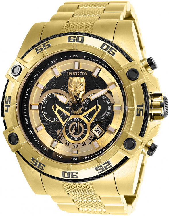 Invicta 26805 Marvel Black Panther Limited Edition Chronograph Gold Mens Watch