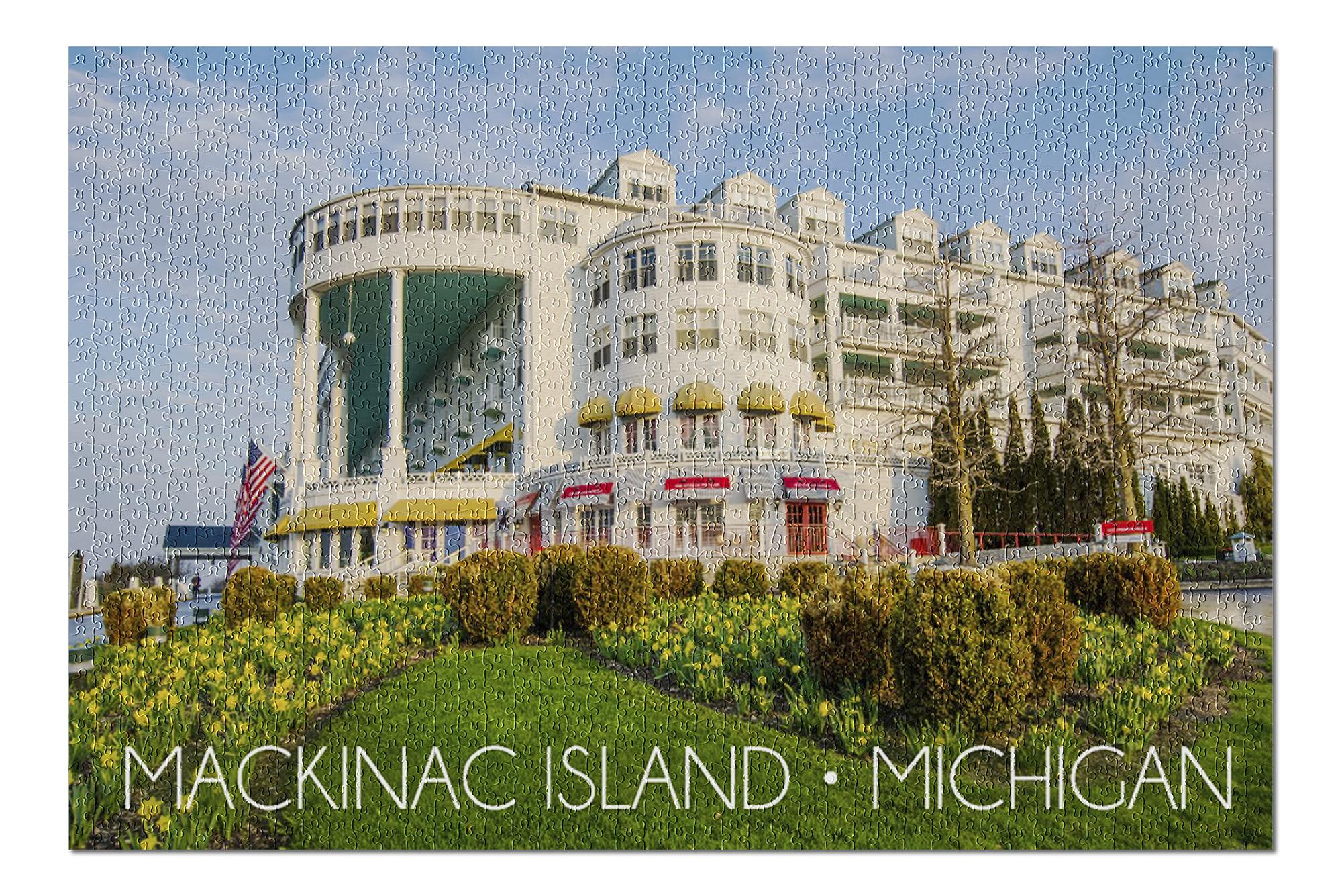 Mackinac Island Michigan Grand Hotel 20x30 Premium 1000 Piece Jigsaw Puzzle Made In Usa Walmart Com Walmart Com